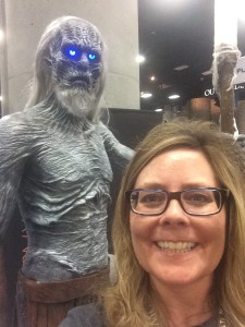 I really shouldn't be smiling when I'm this close to a White Walker.