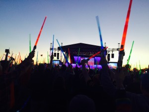 The sun went down and our light sabers glowed bright. What a magical evening!